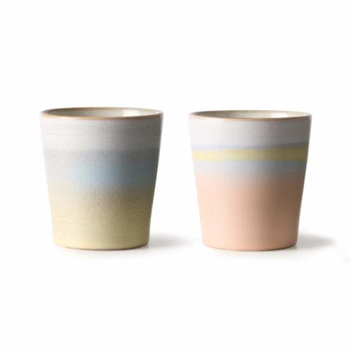 Ceramic 70s Mugs Horizon ( set of 2)