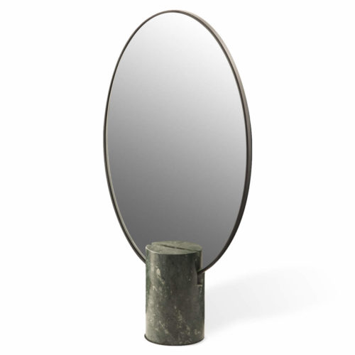 Mirror Oval Marble Green